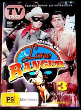 THE LONE RANGER VOLUME ONE - 3 CLASSIC EPISODES, WESTERN DVD  ALL REGIONS/PAL