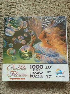 BRAND NEW Sealed VTG SunsOut BUBBLE FLOWER 1000 PC JIGSAW PUZZLE! Josephine Wall