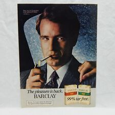 BARCLAY CIGARET VINTAGE ADVERTISING MAGAZINE PAGE JANUARY 11, 1982