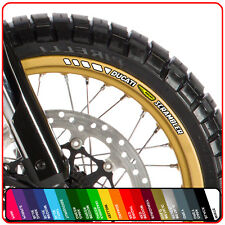 DUCATI SCRAMBLER wheel rim stickers decals - choice of 20 colours - classic icon