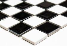 Mosaïque carreau céramique noir mat cuisine piscine bain 18-0311_b | 1 plaque