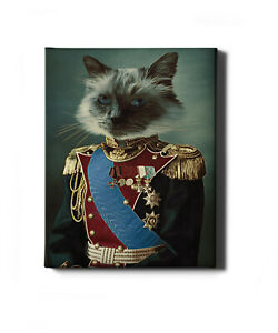 Personalised Hand Painted Historical Pet Portrait
