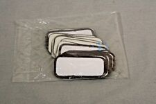 25 LOT EMBROIDERY NAME WHITE PATCH BADGE BLANK BROWN BORDER 3.58 x 1.25 SEW ON