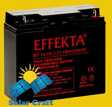 EFFEKTA Pile Batterie elektromoteur Chargeur Module solair PV 18Ah 12V Onduleur