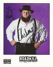Roadkill Autograph 8x10 Photo 'The Angry Amish Warrior'