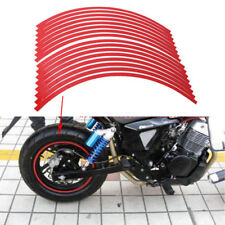 16x Strips Motorcycle Car Bike Wheel Sticker Reflective Rim Stripe Tape Decal YG