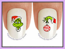 Nail Decals #801X CHRISTMAS Grinch 1 Face Ornament WaterSlide Nail Art Transfers
