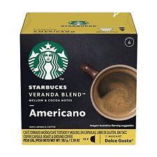 STARBUCKS COFFEE NESCAFE DOLCE GUSTO VERANDA BLEND AMERICANO 36 CAPSULES