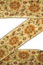 Vintage Antique Border, Decorative Sari Trim, 1 Yard, Embroidered Ribbon ST1649