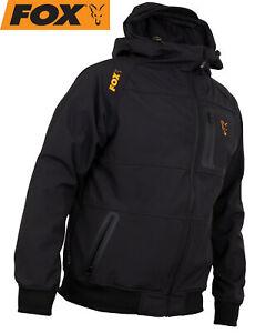 Fox Collection Black Orange Shell Hoodie - Angelpullover, Angelbekleidung