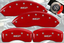 MGP Caliper Covers 25085SMGPBK MGP Engraved Caliper Cover with Black Powder Coat Finish and Silver Characters, Set of 4
