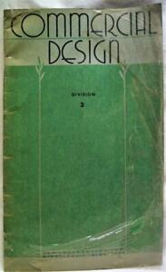 COMMERCIAL ART DESIGN INSTRUCTION BOOKLET COMPOSITION ILLUSTRATION 1949 VINTAGE