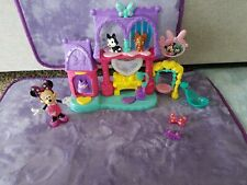 Mattel Disney Minnie Mouse Bowtique Snap N Style Pampering Pets Salon Sounds