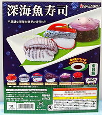 Dollhouse Miniatures Seafood Sushi 6pcs - Re-ment Gashapon  , #6ok
