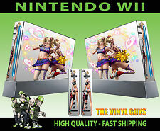 Nintendo Wii AUTOCOLLANT Lollipop Chainsaw Light Hearts graphique Skin & 2 Pad