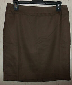 NWT WOMENS ANN TAYLOR LOFT LINED BROWN SKIRT   SIZE 2