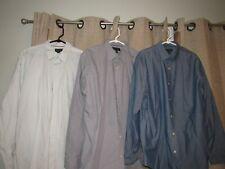 BANANA REPUBLIC shirt lot of {3} shirts 17 17 1/2 35/36 non iron slim fit EUC XL