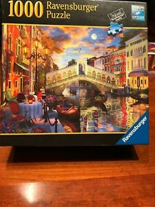 "Ravensburger ""Sunset Over Rialto"" 1000 Piece Puzzle #80653"