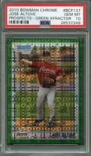 2010 Bowman Chrome #BCP137 Jose Altuve GREEN XFRACTOR PSA 10 GEM MINT