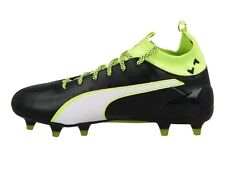 Puma EvoTouch 1 FG Leather Soccer Cleats Men's US 8.5 Black Yellow NEW $170