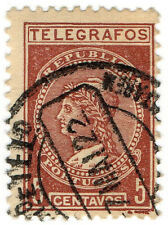 (I.B) Portugal Telegraphs : 5c Red-Brown
