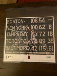 Andrew Benintendi signed Autographed Game 2 Catch photo Fanatics & MLB Authentic