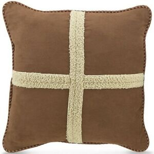 ONE Croscill RIVERDALE SQUARE PILLOW CABIN LODGE HUNTING NEW  (HAVE 3)