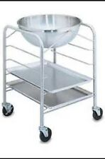 Vollrath 79002 Stainless Steel Mobile Mixing Bowl Stand with Tray Slides for 30