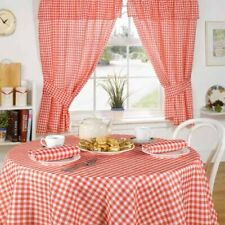 """Emma Barclay  """"MOLLY"""" Gingham Check RED Tablecloth 50 X 70"""" INCH"""