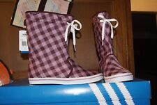 Womens ADidas ADI Honey Boot Boots Red Burgundy White Sz 6 or 8 or 8.5 or 9