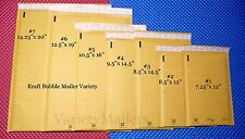 14 Kraft Bubble Padded Envelope Mailer 7 Size Variety Pack ~ Made in the USA