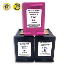 3 Pk 63XL Ink Cartridges for HP Envy 4512 4516 4520 4522 OfficeJet 3830 4655