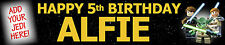 2 X LEGO STAR WARS BIRTHDAY BANNERS WITH PHOTO opt2