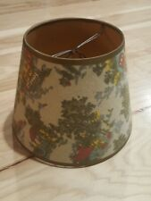 Vintage French Country Toile Farm Barn Lamp Shade Red Green Tan Yellow