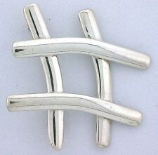 Number Symbol Pure Solid .925 Sterling Silver Pin Brooch Brooche ebs3535