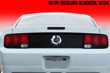2005-2009 Ford Mustang Trunk Blackout Deck Lid Decal 06 07 08 09 Matte Black