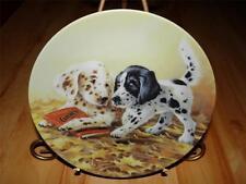 """""""Puppy Tales"""" FIELD TRIPS by Lynn Kaatz Knowles DOG Plate"""