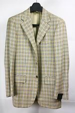 NWT SARTORIA PARTENOPEA MULTI COLOR SMALL CHECK SINGLE JACKET