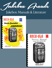 Rock Ola 1422 1426 & 1428 Jukebox Service, Parts, Troubleshooting 2 Manuals in 1