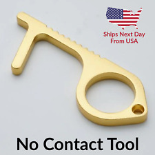 No Contact No Touch Antimicrobial Brass Door Opener Stop Germs Hands Free Tool