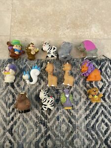 Fisher Price Little People Figures Lot of 13 Animals Vintage Dog Monkey & More