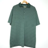 Nike Golf Dri Fit Mens Polo Shirt XXL Green Striped Performance