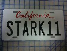 IRON MAN 2 TONY STARK INDUSTRIES MARVEL AUDI R8 STARK11 MOVIE PROP LICENSE PLATE