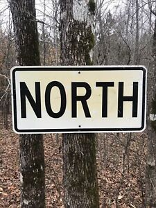 Retired NORTH Highway Road Sign
