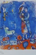 MARC CHAGALL DREAM DANCER 1985 SIGNED HAND NUMBERED 225/333 ETCHING