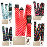 Lanyard Neck Strap by Spirius  With Strong Metal Clip + ID Card Badge Holder