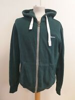 K797 MENS SUPERDRY GREEN F/ZIP DRAWSTRING HOODED PULLOVER HOODIE S EU 46