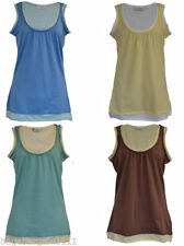New Look Cotton Patternless Sleeveless T-Shirts for Women