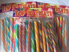 """Gift Box  60 x 6"""" Sticks of Top 20 Rock Treats. Fruity Flavour...3 bags 0f 20"""