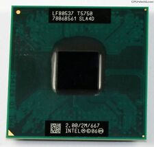 CPU Intel Dual Core DUO Mobile T5750 2.00/2M/667 SLA4D processore socket 478 479